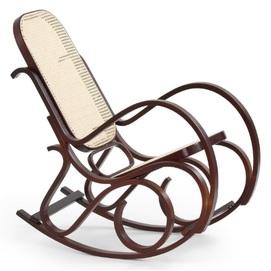 Кресло качалка MAX BIS коричневый Halmar