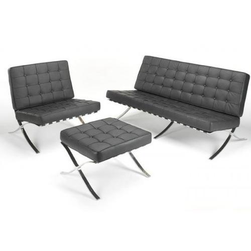 Диван Барселона 3 местный кресло, оттоманка черный Mebelmodern