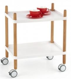 Стол сервировочный BAR-10 белый Halmar