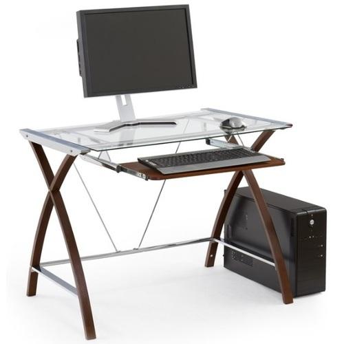 Стол компьютерный B-16 прозрачный Halmar