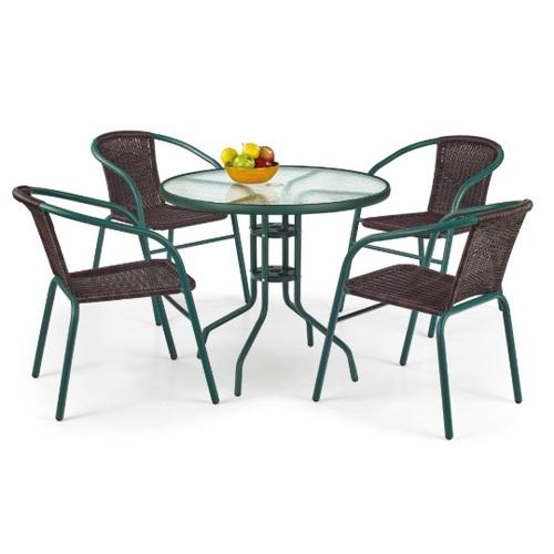 Стол обеденный GRAND 80см темно-зеленый Halmar