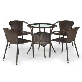 Стол обеденный MIDAS коричневый Halmar