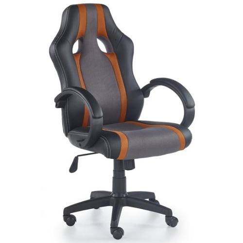 Кресло офисное RADIX серый+оранжевый Halmar