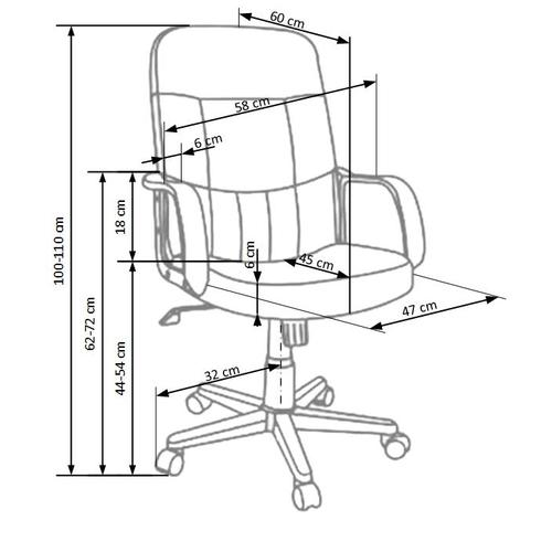 Кресло офисное DENZEL коричневый Halmar