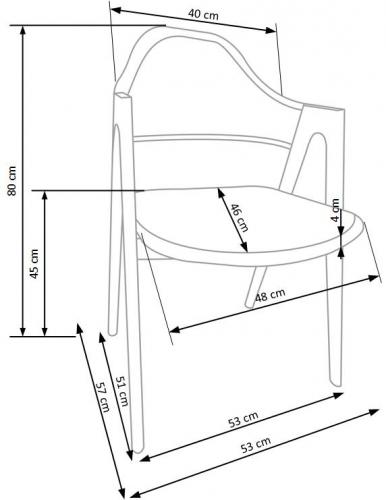 Кресло K247 белый Halmar