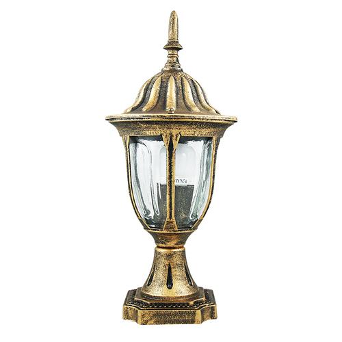 Столб уличный FLORENCJA 302588 золото патина Polux