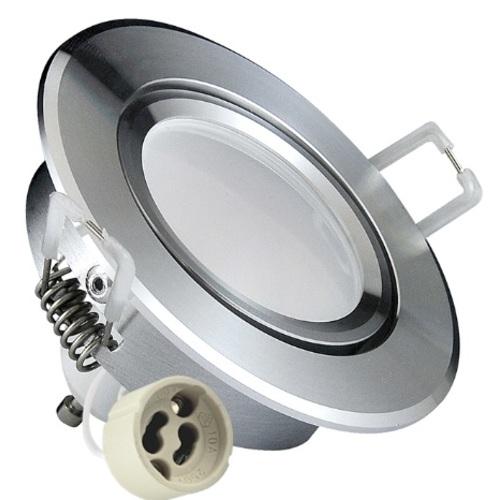 Точечный светильник LED SUN OLAL 301185 серебро Polux