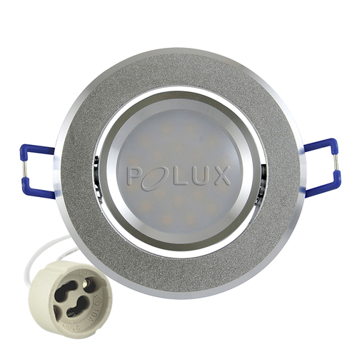 Точечный светильник LED SUN OLAL 301208 серебро Polux