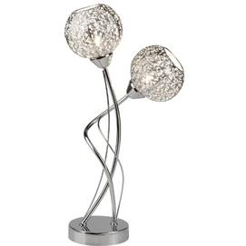 Лампа настольная Souk 6532-2CC серебро Searchlightelectric 2020