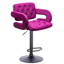 Стул барный R3043 фиолетовый велюр Primel 2020