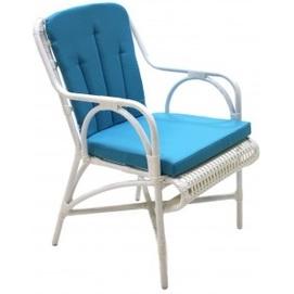 Кресло Bali бело-голубое ConCon