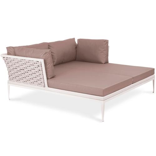 Кровать двуспальная Олли бежевая Pradex