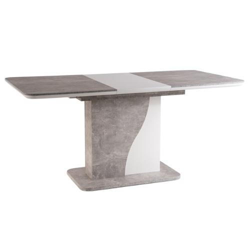 Стол обеденный раскладной Syriusz 120см серый бетон Signal 2020