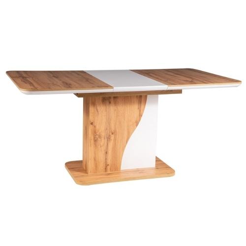 Стол обеденный раскладной Syriusz 120см белый+дубSignal 2020