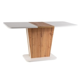 Стол обеденный раскладной Calipso бежевый дуб Signal 2020