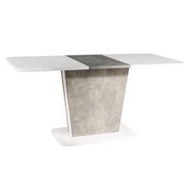 Стол обеденный раскладной Calipso белый+серый Signal 2020