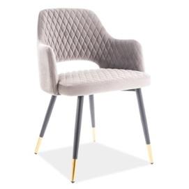 Кресло Franco Velvet серый Signal 2020