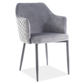 Кресло Astor Velvet серый Signal 2020