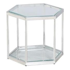 Стол журнальный CK-1 прозрачный+серебро Verde 2020