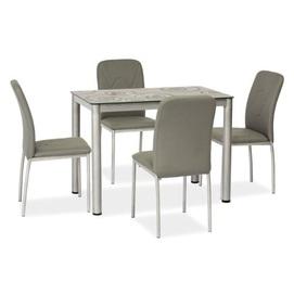 Стол обеденный Damar 80 см серый Signal 2020