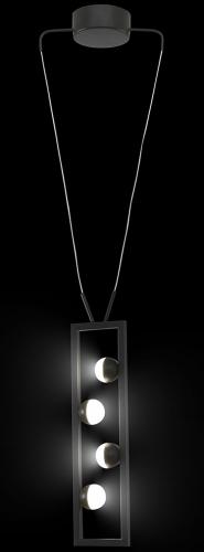 Лампа подвесная P 2485 10W LED черный Stellare