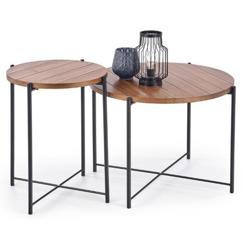 Набор столиков TANAKA коричневый Halmar
