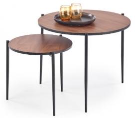 Набор столиков GUARDIA круг коричневый Halmar