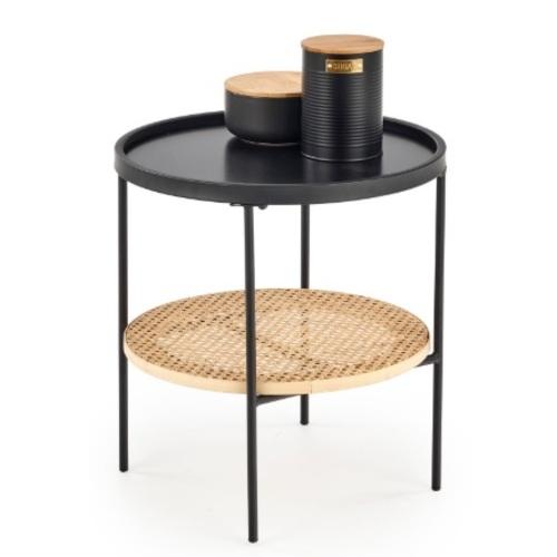 Стол кофейный KAMPA черный Halmar