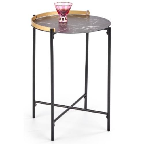 Стол кофейный LINUX черный Halmar