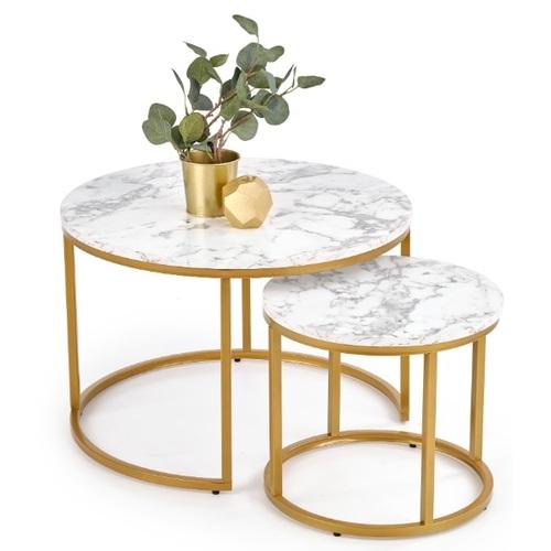 Набор столиков PAOLA золото Halmar