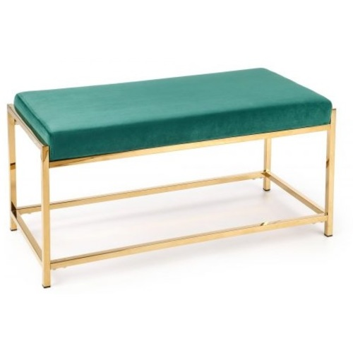 Банкетка MOKKA зеленый+золото Halmar