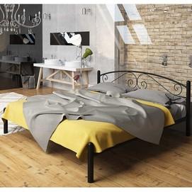 Кровать Виола 140*190 см черный Tenero