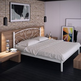 Кровать Карисса 160*200 см белый Tenero