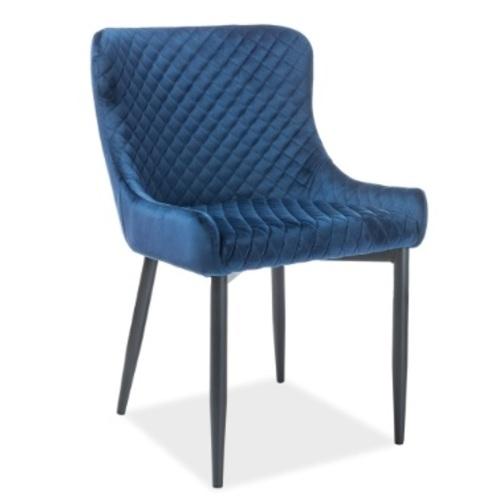 Кресло Chicago синий велюр Kordo