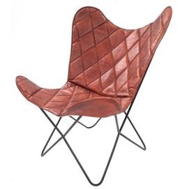 Кресло бабочка Pablo 331 1LC5S коричневый Kayoom