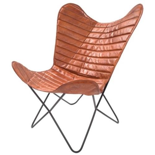 Кресло бабочка Santiago 326 FW965 коричневый Kayoom