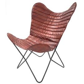 Кресло бабочка Santiago 327 EPFF1 коричневый Kayoom