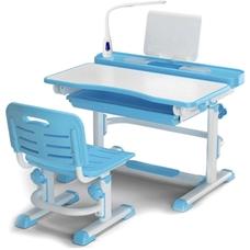 Комплект парта и стульчик Evo-kids BD-04 XL New  (с LED лампой) бело-голубой Mealux