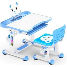 Комплект парта и стульчик Evo-Kids BD-04 Teddy (без лампы)  бело-голубой Mealux