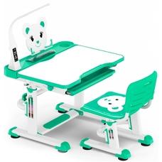 Комплект парта и стульчик Evo-Kids BD-04 Teddy (с LED лампой) бело-бирюзовый Mealux