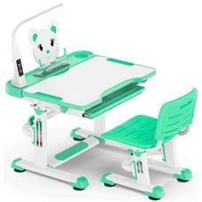 Комплект парта и стульчик Evo-Kids BD-04 XL Teddy (с LED лампой) бело-бирюзовый Mealux