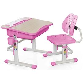 Комплект парта и стульчик Evo-kids Evo-03 (без лампы) бело-розовый Mealux