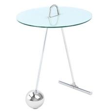 Стол кофейный Pendulum 525 5UUDH белый+серебро Kayoom