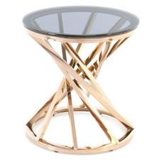 Стол кофейный Wesley 225 GIQQR-RGLD розовое золото Kayoom