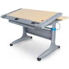 Детский стол (парта) Tokyo-2 TH-348 MG с ящиком серый/клен Mealux