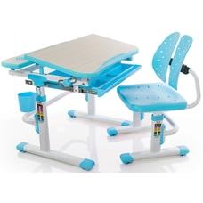Комплект парта и стульчик Evo-kids Evo-05 BL (без лампы) клен/голубой Mealux