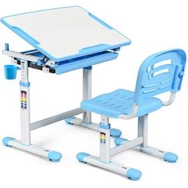 Комплект парта и стульчик Evo-kids Evo-06 бело-голубой Mealux