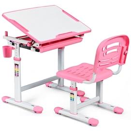 Комплект парта и стульчик Evo-kids Evo-06 бело-розовый Mealux