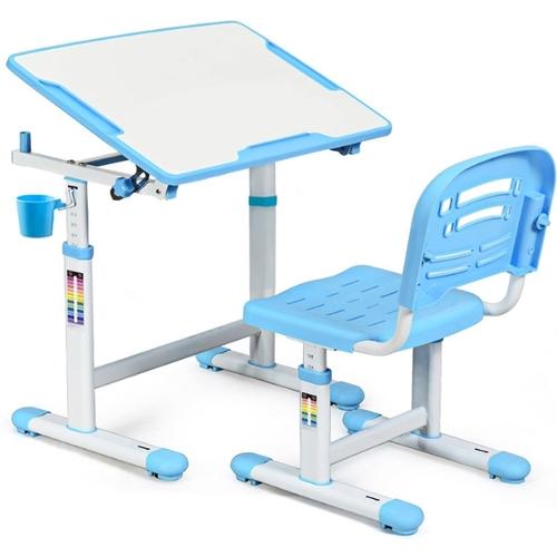 Комплект парта и стульчик Evo-kids Evo-07 бело-голубой Mealux