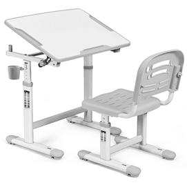 Комплект парта и стульчик Evo-kids Evo-07 бело-серый Mealux
